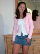 Brunette teen tawnee stone shows her tits on the dresser