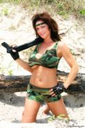MILF Deauxma in Army Green Camo  Fingering Herself