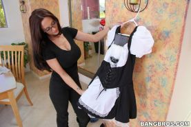 Naughty maid outfit and the cum drenched threesome
