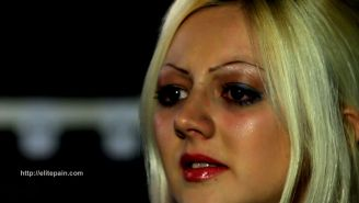 Extreme hungarian torture session of amateur blonde slave in ele