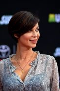 Catherine Bell see through to bra at the premiere in Hollywood