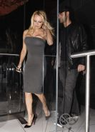 Pamela Anderson showing big cleavage and her nice tits and upskirt