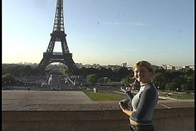 Pictures of Christine Young on her naughty trip to Paris