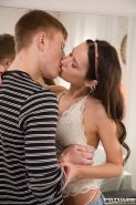 Skinny Russian teen Angie gets fucked doggystyle at Private