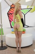 Jessie Rogers gets her ass stuffed with cock in yellow dress
