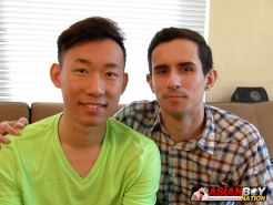 American and Asian Gay Couple