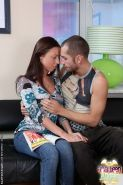 Brunette teen angel in anal hardcore love with orals