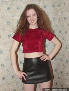 Young Russian redheaded witch shows all her magic bodys parts