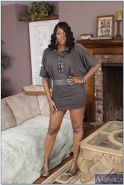 Nyomi Banxxx rides a white dick on the couch in lingerie