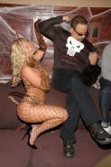 Nicole Coco Austin posing sexy in leopard outfit