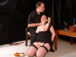 Messy food humiliation and bizarre domination of dirty slavegirl Nimue