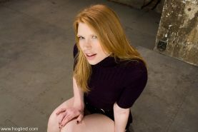 Redhead Madison Young gets rope hogtied her nipples streched