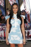 Alesha Dixon very sexy in short dress while arriving at Britain's Got Talent stu