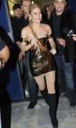 Shakira leggy in high boots and upskirt on stage paparazzi pictures