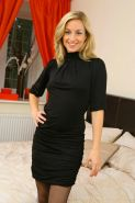 Melanie Walsh In Black Stockings