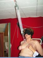 Severe amateur bdsm slave in needle pain and extreme mature breast suspension bo