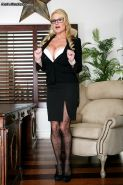 Business woman Kelly Madison gives head in office