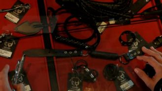 Tied up sex slave Destiny used to try out sex toys