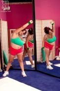 Busty BBW Slut Tatiana Blair Working Out With Some Huge Cock