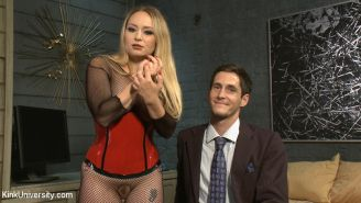 Aiden Starr teaches all about pegging: how to fuck a male with a strap-on dildo