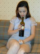Teen gets drunk and thrusts empty bottle into her slit