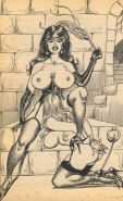beautiful busty women in sexual erotic vintage artworks