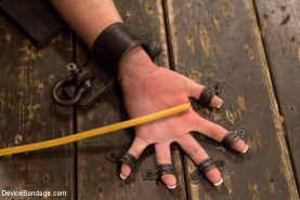 Shy blue eyed Bailey: Contorted painful bondage, pain & orgasms!