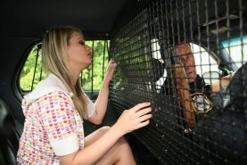 Blonde chick fucks a cop to keep her cute little ass out of jail