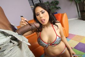 Jessica Bangkok busty asian slammed by enormous black shlong