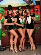 Brandy Talore and her horny friends partying at the bar for St. Patricks