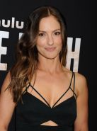 Minka Kelly busty showing big cleavage in hot black dress