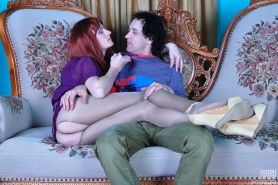 Redhaired sissy guy gives head and gets his eager ass plowed thr