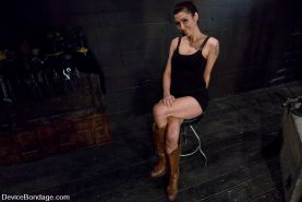BDSM Mistress Princess Donna is bound abused made to orgasm