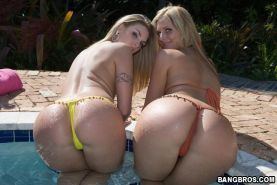 Big asses Brianna Love and Phoenix Marie outdoor fucking