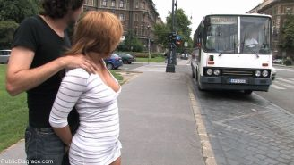 Beautiful young girl gets fucked in public bus for everyone to see and use then