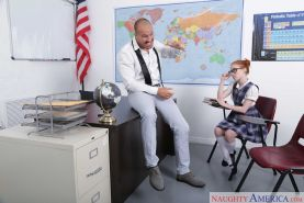 Dolly Little drilled by her professor in the classroom