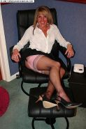 Amateur lady Angelique in stockings