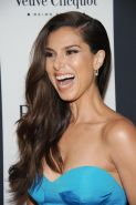 Roselyn Sanchez braless wearing hot blue strapless dress at 2013 Vanidades Icons