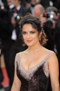 Salma Hayek showing awesome cleavage at 'Madagascar 3: Europe's Most Wanted' scr