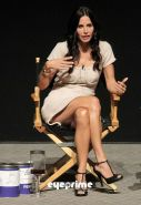 Courteney Cox showing wonderfull and croessed legs in mini skirt paparazzi pictu