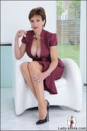 Cleavage and nylons stunning classy mature british trophy wife