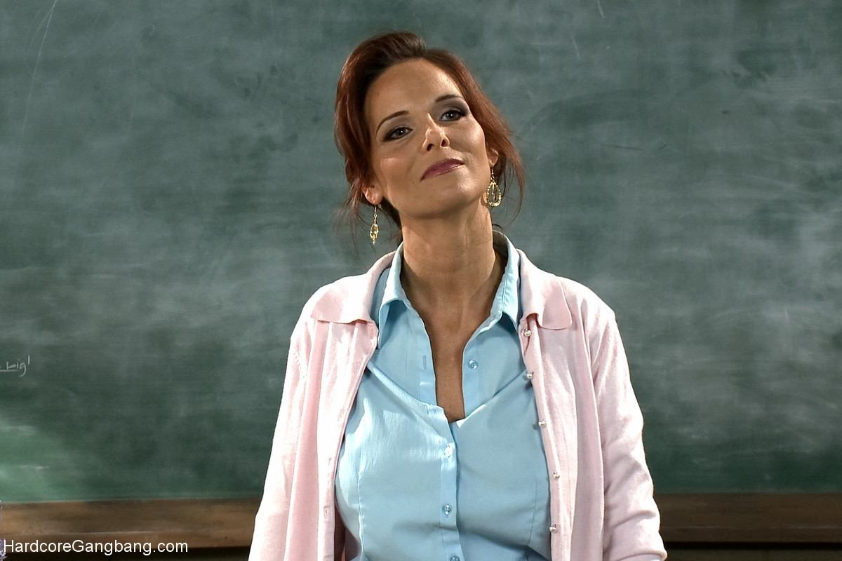 Hot MILF Teacher with Giant Tits Gangbanged by Students Double Anal  #68808017