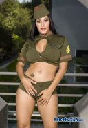 Nina Mercedez hot XXX superstar wants you to take orders from her Military style