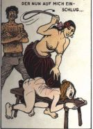 extreme pain vintage German bdsm art