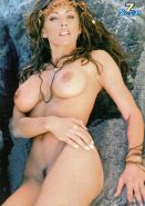 Krista Allen showing her bare pussy and her big tits in nude photoshoot