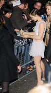 Emma Watson leggy wearing very short dress at Elle Style Awards in London