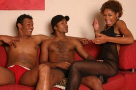 Explicit black threeway where every hole gets its share of cock