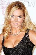Geri Halliwell showing massive cleavage at Breast Care London Fashion Show