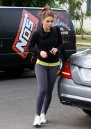 Maria Menounos showing off her ass in tights outside a gym in LA