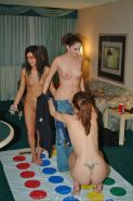 Drunk college girls play naked twister